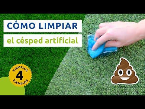 C mo limpiar el c sped artificial limpieza eliminar - Como se pone el cesped artificial ...