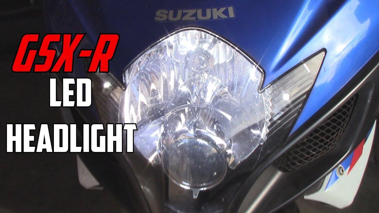 GSX-R LED Headlight Install | 06-07 GSXR| Str805Sd - YouTube on