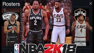 NBA 2K18 Rosters: San Antonio Spurs Vs Cleveland Cavaliers | 2K16 Gameplay | LeBron