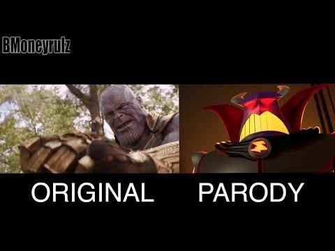 Disney/Pixar's AVENGERS: INFINITY WAR Side-By-Side W/ Trailer 2