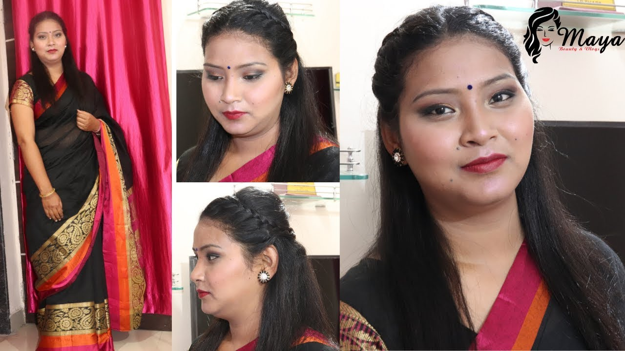 Simple Wedding Reception/Party Makeup & Hairstyle 2019 - YouTube