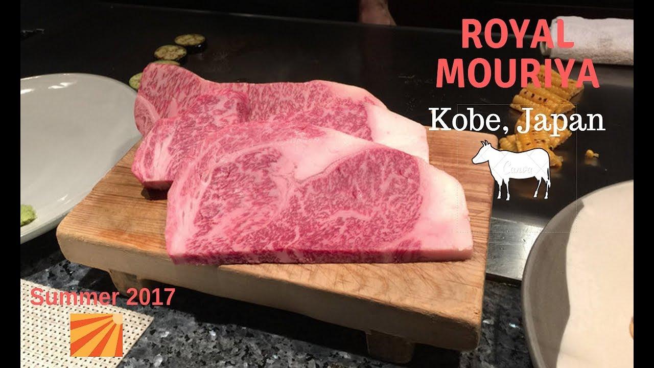Royal Mouriya- Complete Kobe Beef A5 Dining Experience!! Luxurious!! Kobe,  Japan 神戸牛