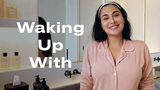 Huda Kattan Reveals How to Achieve Her Signature Glow | Waking Up With | ELLE