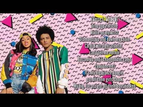 Bruno Mars- Finesse ft Cardi B (Lyrics)