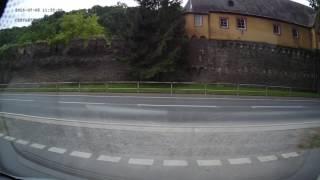 Approach to Bacharach stellplatz, Rhine valley, Germany. 05.07.16 (N50°03'18·5'' E007°46'19·4'')