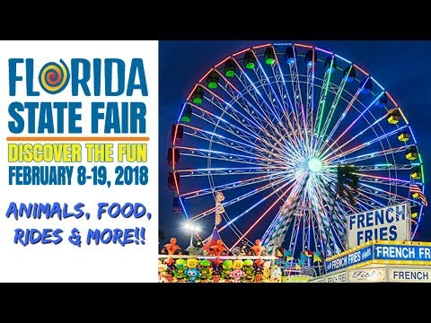 Florida State Fair 2018!! Animals, Food, Rides & MORE!!