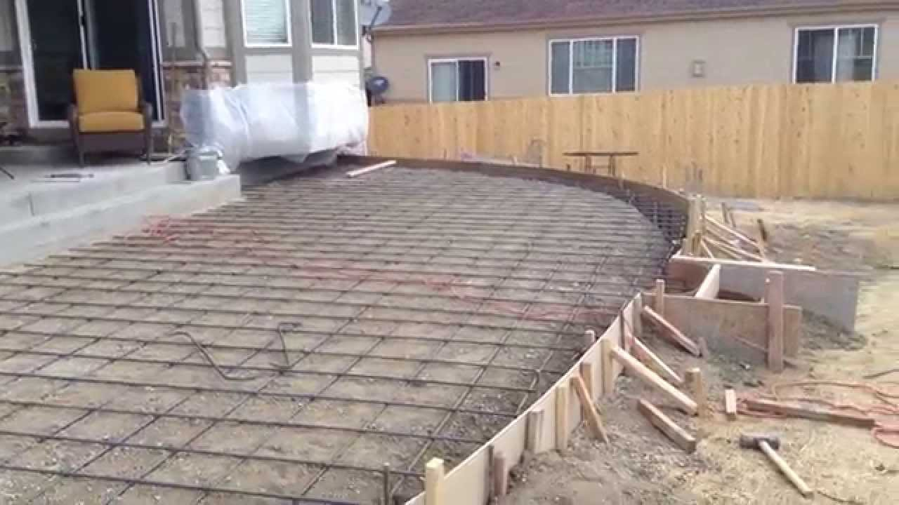 colored concrete patio youtube