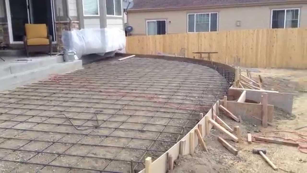 Colored Concrete Patio  YouTube