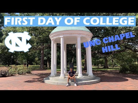 FIRST DAY OF CLASSES VLOG - UNC CHAPEL HILL FRESHMAN (+ drinking from old well)