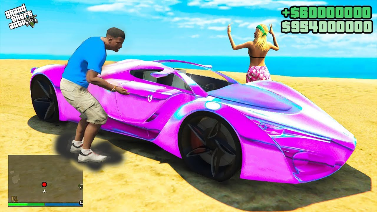 GTA 5 : Stealing Futuristic Supercar in GTA 5 ! (GTA 5 mods)