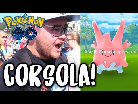 CATCHING CORSOLA! - Pokémon GO Region Exclusive Week #1: POKÉMON GO AT DISNEY WORLD!