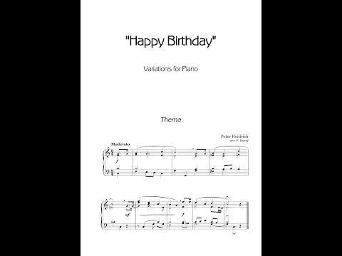 Peter Heidrich - ''Happy Birthday Variations'' - piano solo - sheet music