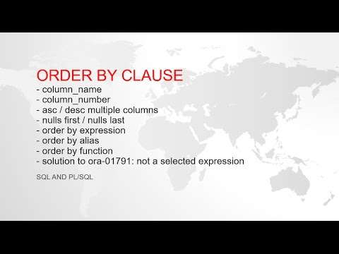 ORDER BY CLAUSE FOR EXPERT IN ORACLE SQL WITH EXAMPLE