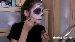 Как Мишель красилась на Хелоуин SKULL Halloween Makeup & Hair Michelle Becker