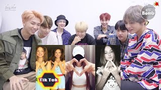 BTS REACTION Finger thingy 😝 Can you do it TikTok s compilation TUTORIAL tuttingBTS 반응