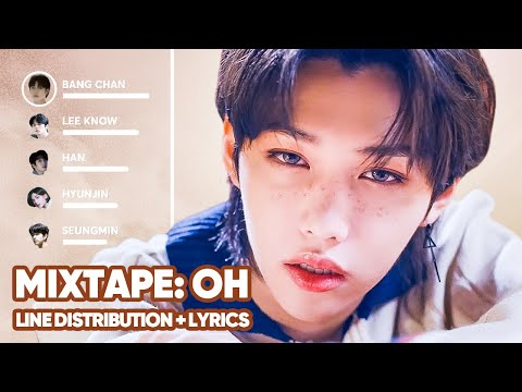 Stray Kids - Mixtape: OH (애) Line Distribution + Lyrics Color Coded PATREON REQUESTED