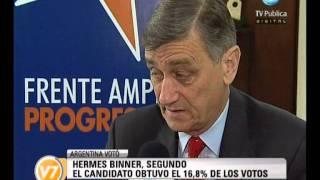 Visión Siete: Hermes Binner quedó segundo