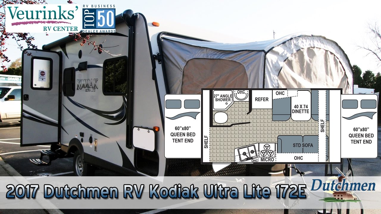 Kodiak Travel Trailer >> For Sale: 2017 Dutchmen RV Kodiak Ultra Lite 172E Review | Grand Rapids, MI - (616) 965-9624 ...