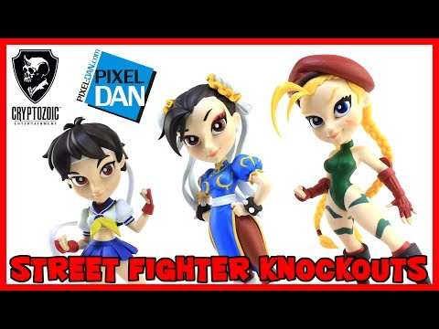 Street Fighter Knockouts Vinyl Figures Cryptozoic Entertainment Video Review
