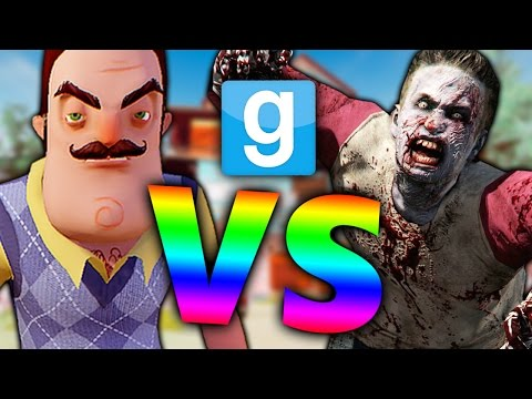 HELLO NEIGHBOR vs ZOMBIES?! | Garry's Mod Sandbox