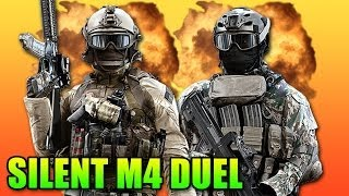 Battlefield 4 Double Vision Dueling Silenced M4s