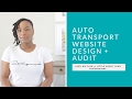 Designing an Auto Transport Broker Website, Website Audit and Converting Leads Small Talk
