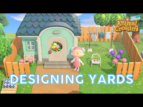 Designing Front Backyards Villager Houses Showcase Animal Crossing Imannamolly Youtube