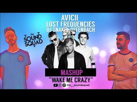 AVICII, LOST FREQUENCIES, DJ SNAKE, OFFENBACH - WAKE ME CRAZY (the SOUND SQUAD MASHUP)