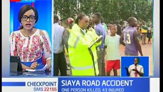 Road accident in Siaya leads to one person and 43 injured