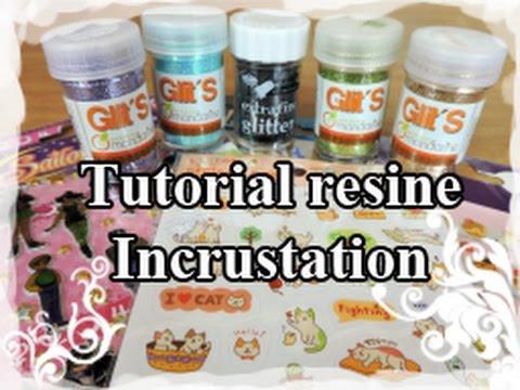 DIY : Resin Tuto / Resine Tutoriel N°2 : Incrustation (stickers/paillette)
