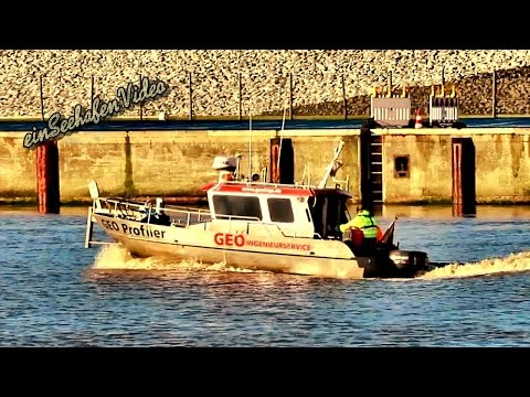 Emden Port GEO PROFILER GEOINGS Vermessung Ingenieurservice Emder Hafen survey boat