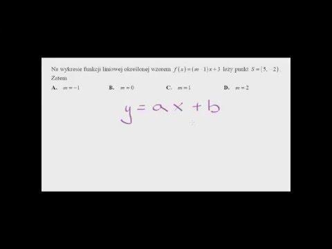 Funkcja Liniowa. Wyznaczanie Parametru M.  Zadanie Maturalne 1.