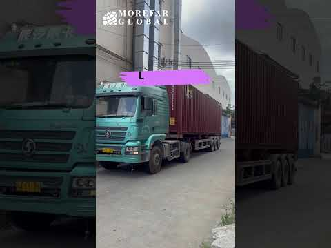 A organized process of loading a container by a experienced sourcing agent in Guangzhou China