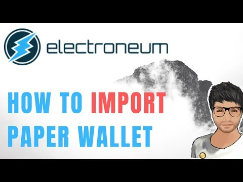 How To Import ELECTRONEUM Paper Wallet Into CLI Wallet and Transfer to Cryptopia Exchange