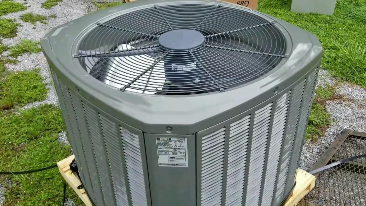 New 4 Ton Trane Air Conditioner Youtube