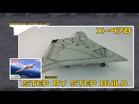 Freedom Models : X-47B : 1/48 Scale Model: Step by Step Video Build Episode.1
