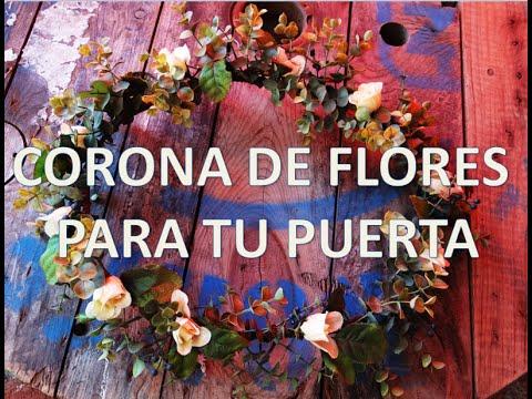 Corona de flores para puertas dia de las madres - Decoracion dia de la madre ...