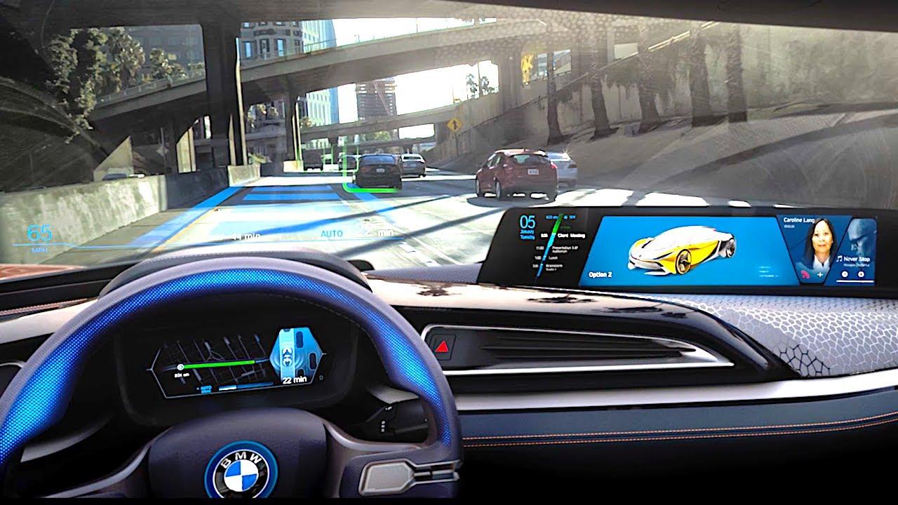 Bmw Self Driving Car Demonstration Bmw I8 Roadster 2018