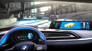 BMW Self Driving Car Demonstration BMW i8 Roadster 2018 BMW Autonomous Connected Car CARJAM TV HD