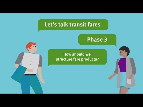 Transit Fare Review Phase 3 - Fare products