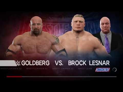WWE 2K17 Goldberg vs Brock Lesnar