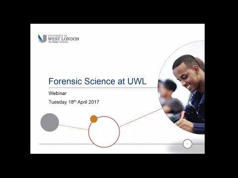 Webinar: Studying Forensic Science at the University of West London