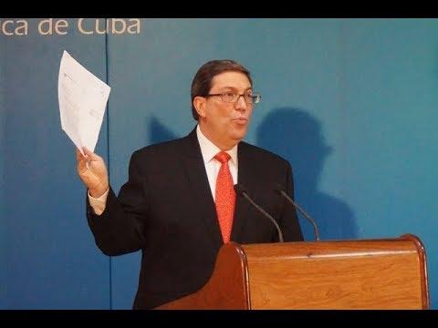 Denuncia de Bruno Rodríguez Parrilla intento de Estados Unidos de justificar el cruel bloqueo