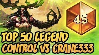 Control VS Crane333! | Top 50 Legend | Token Druid 2018 | The Witchwood | Hearthstone