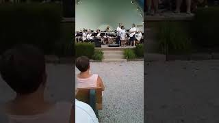 BCB Band Director Matthew S  Huber recieves 50 year plaque during Sunday, June 17, 2018 concert at F
