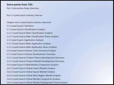 Gosreports:Crystal Quartz Market Research Report 2016
