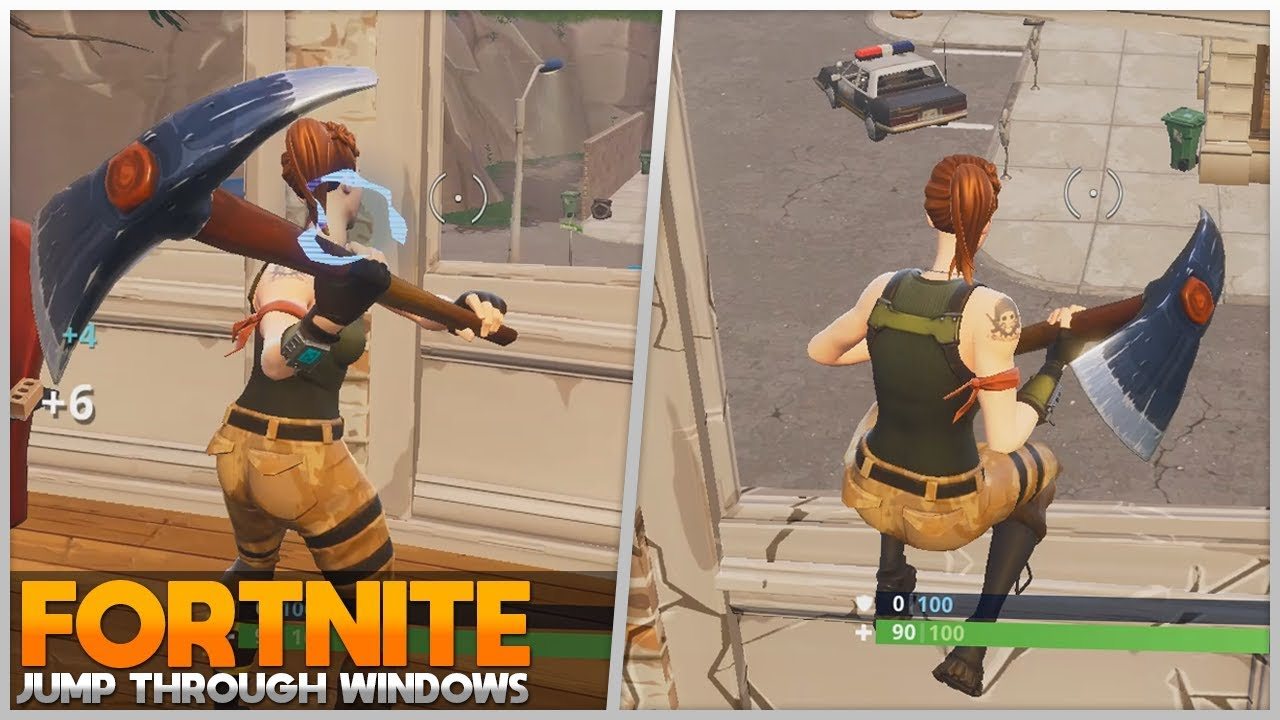 How To Jump Through Windows Fortnite Battle Royale Youtube - how to jump through windows fortnite battle royale