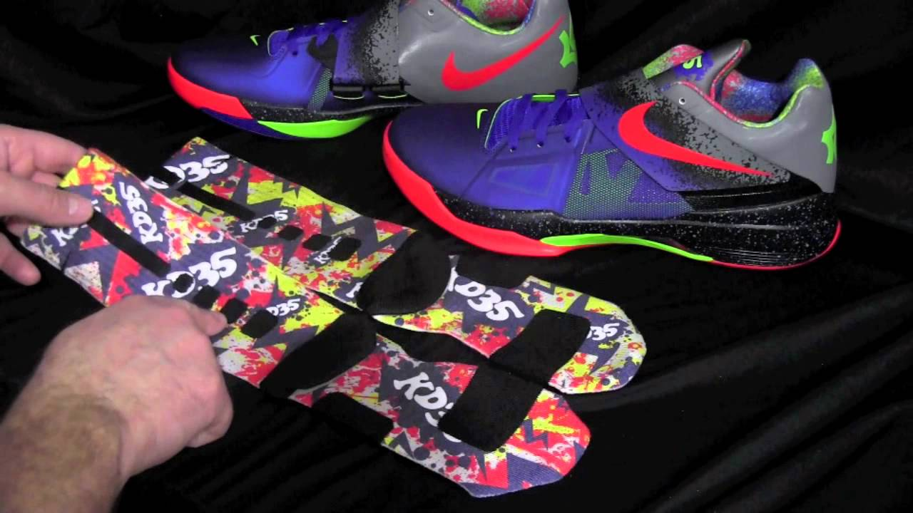 381391ed62c4ab KD4 Nerf Splats -Custom Nike Elite Socks - YouTube