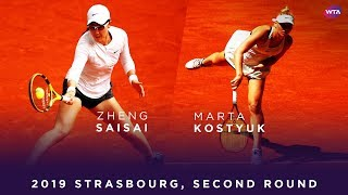Marta Kostyuk vs. Zheng Saisai | 2019 Strasbourg Second Round | WTA Highlights