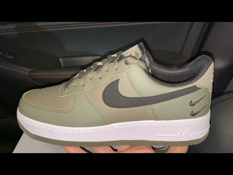 Nike Air Force 1 Double Swoosh Twilight Marsh Olive sneakers